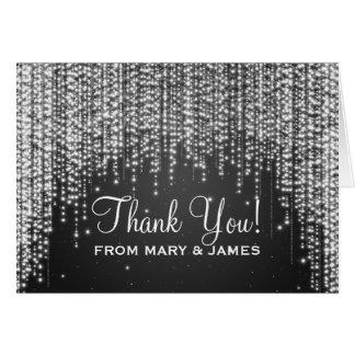 """Wedding """"Thank you"""" Night Dazzle Black Card"""