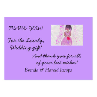 Wedding Thank You Note Card Business Card Template