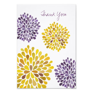 Wedding Thank You Note Cards Watercolor Dahlias Announcements