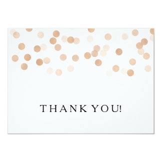 Wedding Thank You Note Copper Foil Glitter Lights 4.5x6.25 Paper Invitation Card