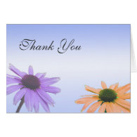 Wedding thank you note,daisy flowers card