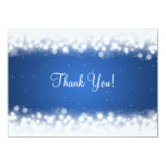 Wedding Thank You Note Magic Sparkle Blue Card