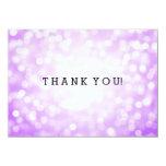 Wedding Thank You Note Purple Glitter Lights Card