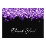 Wedding Thank You Note Purple Lights Personalized Invite