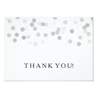 Wedding Thank You Note Silver Foil Glitter Lights Card