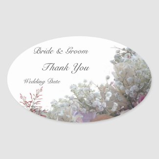 Wedding Thank You Oval sticker