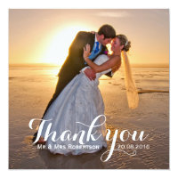 Wedding Thank You Photo Card