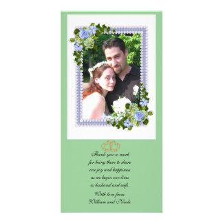 Wedding Thank you Photo Card floral design