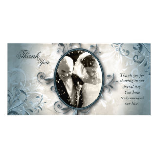 Wedding Thank You Photo Card - Vintage Foliage
