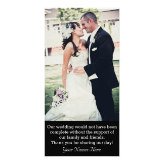 Wedding Thank-you Photo Card With Message