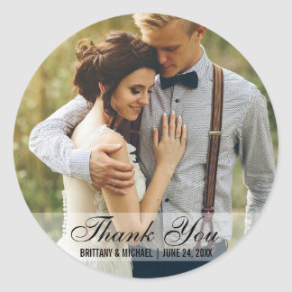 Wedding Thank You Photo Favor Stickers R