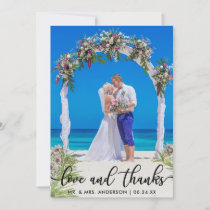 Wedding Thank You Photo Love and Thanks Card