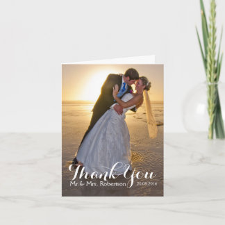Wedding Thank You Photo Note Card