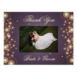Wedding Thank You Photo postcards, Postcard