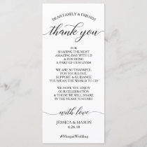 Wedding Thank You Place Card - Classic Script