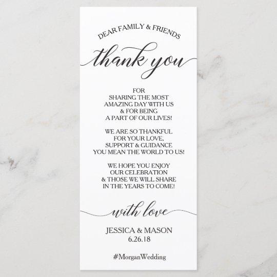 Wedding Thank You Place Card Clic Script