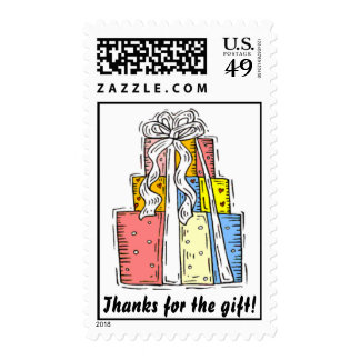 Wedding thank you postage stamps