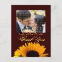 Wedding Thank You Postcard postcard