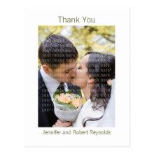 Wedding Thank You Postcard