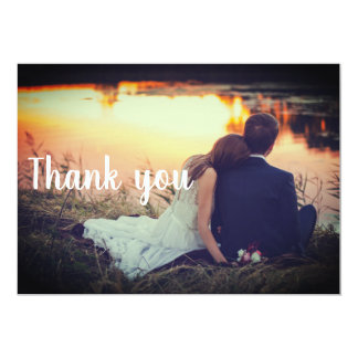 Wedding Thank You Postcard - Couple by the water