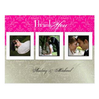 Wedding Thank you postcards/DIY color+photos Postcard