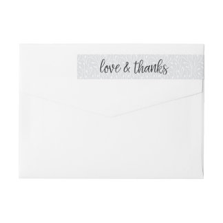 Wedding Thank You Return Address Wrap Around Label
