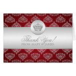 "Wedding ""Thank you"" Royal Crown Red Card"