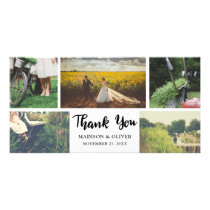 Wedding Thank You Script Five Photo Collage Card
