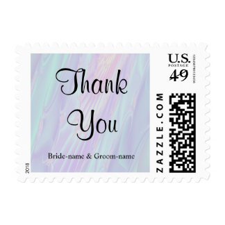 Wedding Thank You. Seashell Style Pattern. Stamp