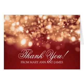 "Wedding ""Thank you"" Sparkling Lights Gold Card"