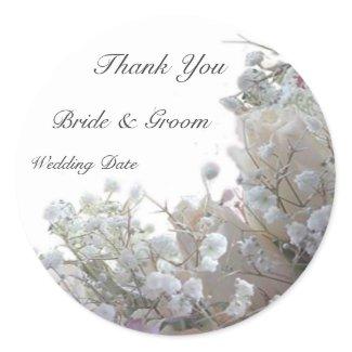 Wedding Thank You Sticker sticker