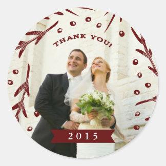 Wedding Thank You Sticker 1