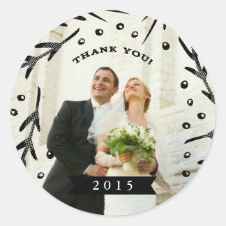 Wedding Thank You Sticker 2