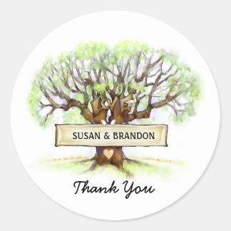 Wedding Thank You Sticker - The Love Tree