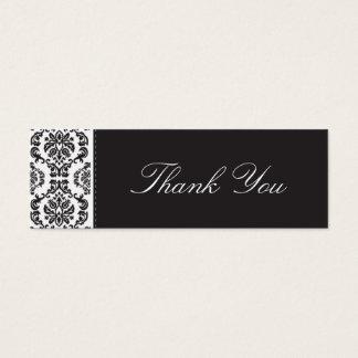 WEDDING :: thank you tag :: damask - black 2