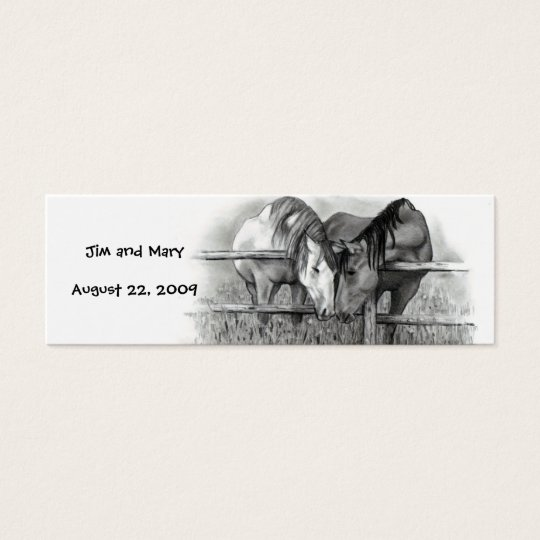 WEDDING thank you tags, HORSES Mini Business Card