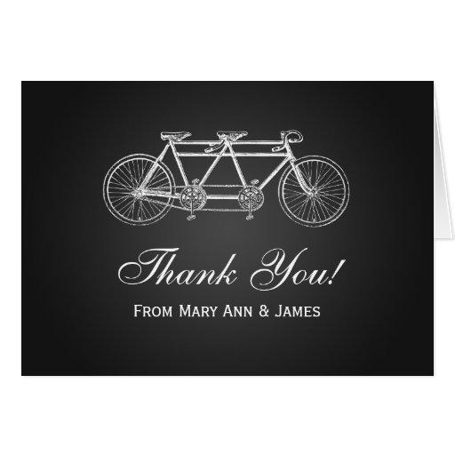 "Wedding ""Thank you"" Tandem Bike Black Card"