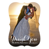 Wedding Thank You | Wedding Photo Card