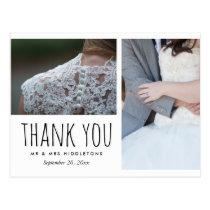 Wedding Thank You Whimsical   Two Photos Postcard