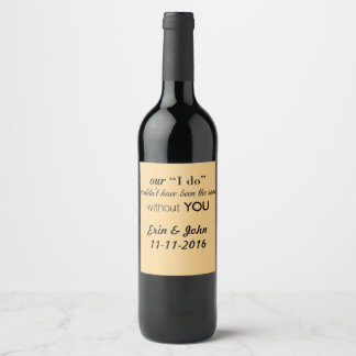 Wedding Thank You Wine Labels