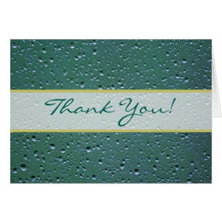 Wedding Thank You with Water Droplets Background Card