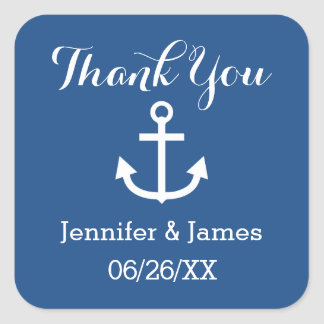 Wedding Thank You You Choose Custom Color A12 Square Sticker