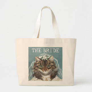 Wedding, the bride large tote bag