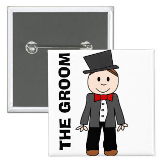 Wedding,the groom,bachelor party,stag party 2 inch square button
