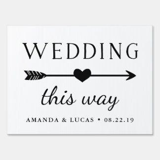Wedding This Way | Directional Yard Sign