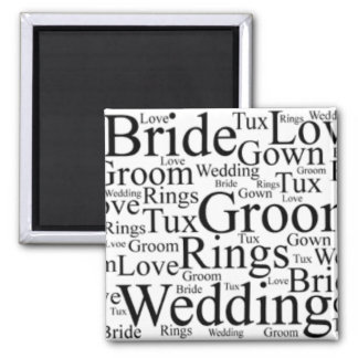 Wedding Thoughts 2 Inch Square Magnet