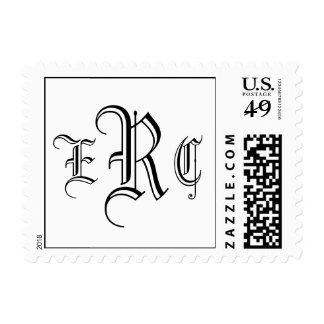 Wedding Three Letter Monogram USPS Postage