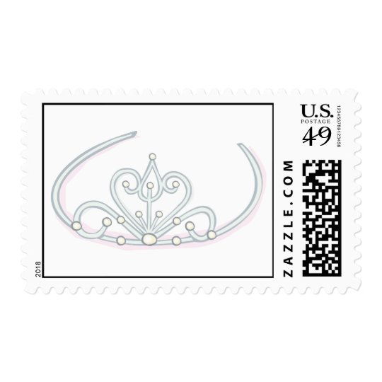 Wedding Tiara with Pearls Postage