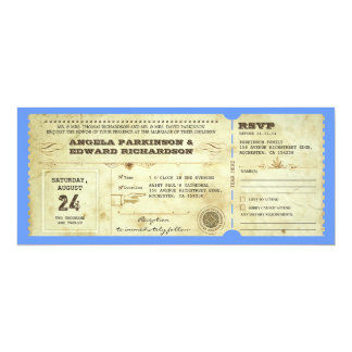 wedding ticket - change the background color personalized invite