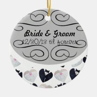 Wedding til forever <3 ceramic ornament